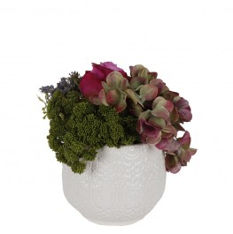 Contemporary Floral Arrangement-Hydrangea and Rose