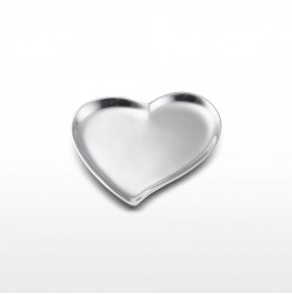 Cupid's Heart Dish- Silver