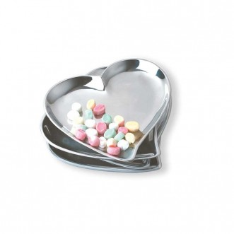 Cupid's Heart Dish- Silver Insel