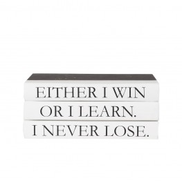 "3 vol. Quote Stack ""I never lose. Either I win or I learn."""