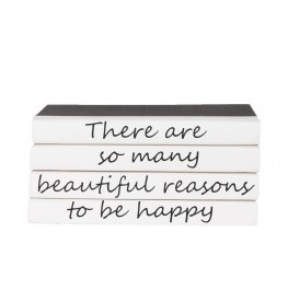 "4 volume quote as shown. ""there are so many beautiful reasons to be happy"""