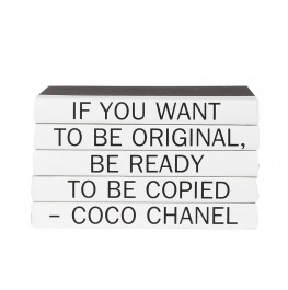 "Coco Chanel ""If you want to be original..."" 5 Vol. Stack"