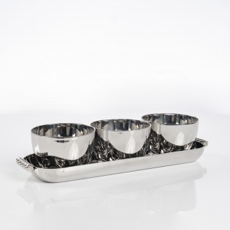 TWIST TRIPLE BOWL SET W/ TRAY Insel
