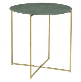 Leaf Coffee Table-Green Metal