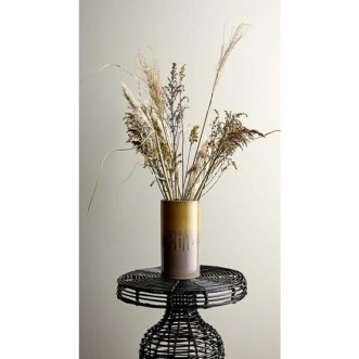 Cuba Side Table-Black Rattan Insel