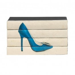 Hot Heels IV - Blue Satin 4 Volume Stack
