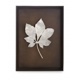 CHESTNUT LEAF SHADOW BOX - ANTIQUE NICKEL
