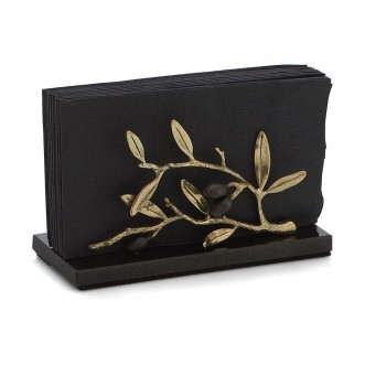 OLIVE BRANCH GOLD VERTICAL NAPKIN HOLDER Insel