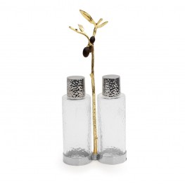 OLIVE BRANCH GOLD CRUET CADDY
