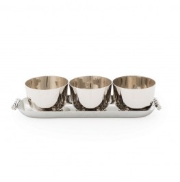 TWIST TRIPLE BOWL SET W/ TRAY