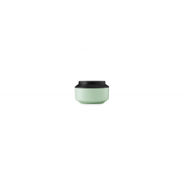 Geo Jar w. Lid Ø15 Mint/Black