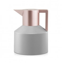 Geo Vacuum Flask -Grey/Rose Gold