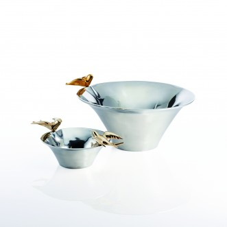 Dove Candy Dish Silver/Gold Insel