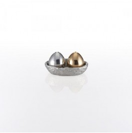 Nest Salt And Pepper W/Tray Silver/Gold