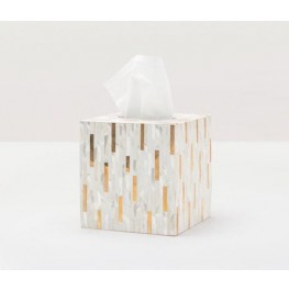 Cortona Tissue Box- Brass