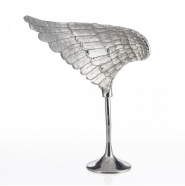 Wing Sculpture Silver- Left