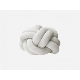 KNOT CUSHION- WHITE/GRAY
