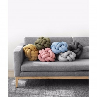 KNOT CUSHION- YELLOW Insel