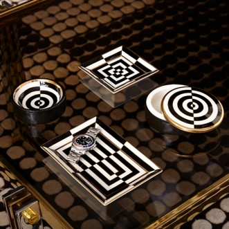 OP ART SQUARE TRAY Insel