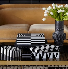 OP ART LACQUER BOX- SET