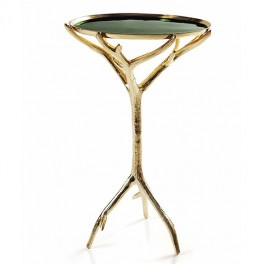 Manzanita Accent Table-Forest Green