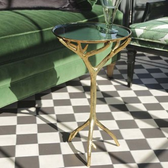 Manzanita Accent Table-Forest Green Insel