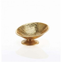 Nest Asymmetrical Pedestal Bowl Gold
