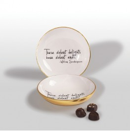 BOWL WITH SHAKESPEARE QUOTE