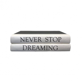 "2 Vol. ""Never Stop Dreaming"" Quote"