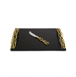 Twig Gold Large Cheese Board w/ Knife