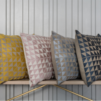 Geocentric Cushion -Dusky Pink / Off White Insel